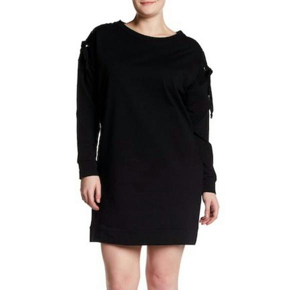 Bobeau Grommet Lace Up Sleeve Sweater Dress 451ca150f